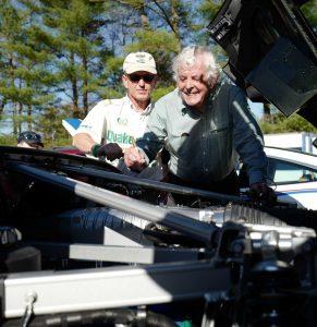 Brian Redman signs Ron Savenor's Ford GT