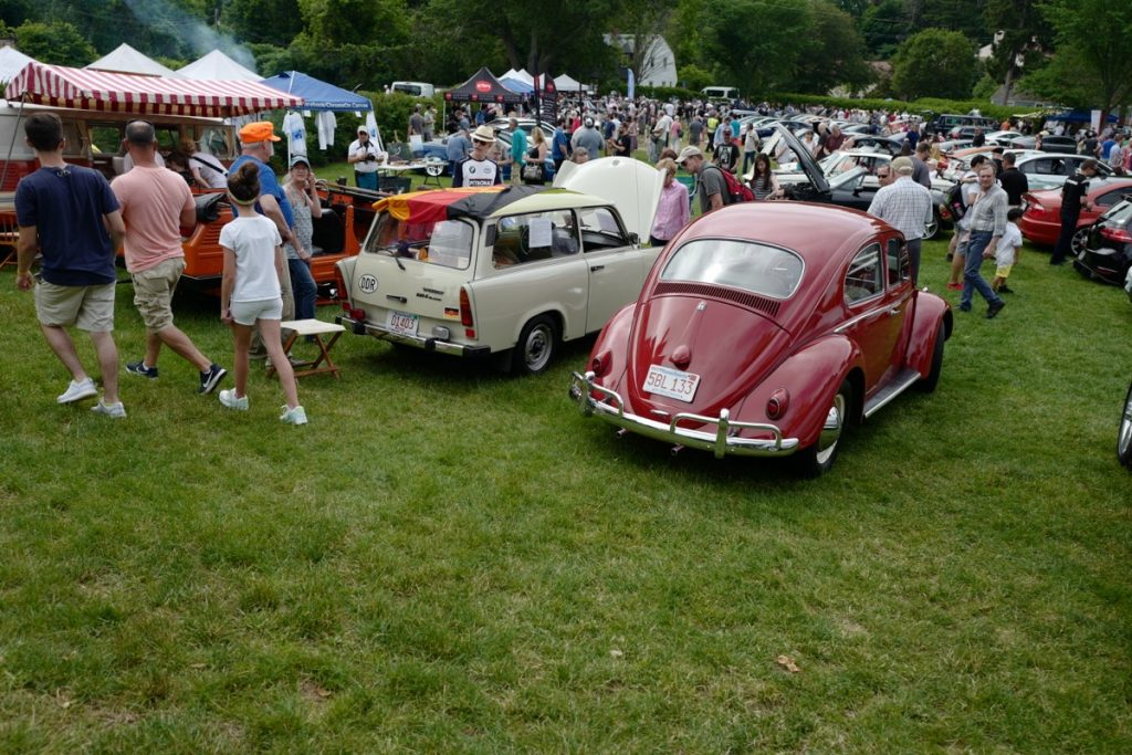Larz Anderson German Car Day 2017 - VW bug and Trabant