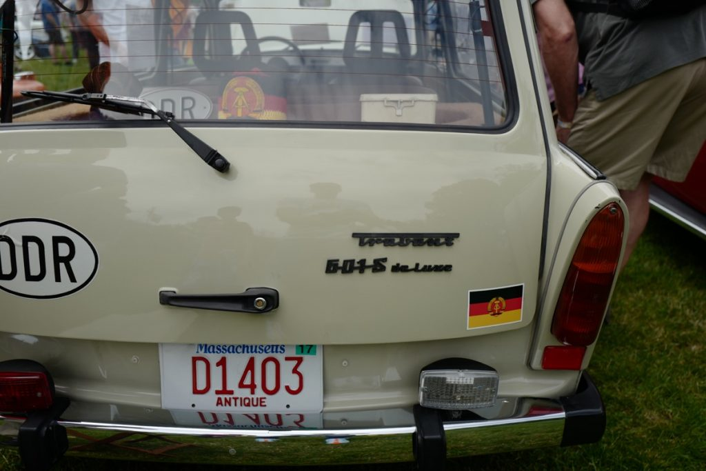 Larz Anderson German Car Day 2017 - Trabant rear badges