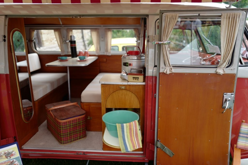 Larz Anderson German Car Day 2017 - VW camper van interior