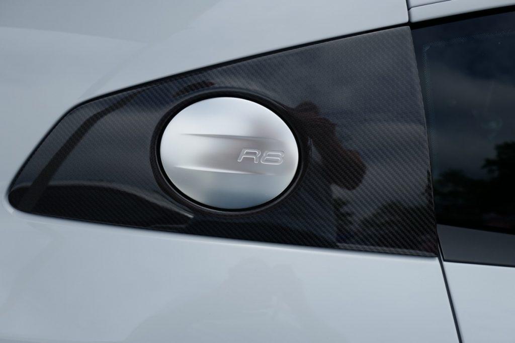Larz Anderson German Car Day 2017 - Audi R8 V10 gas cap carbon fiber