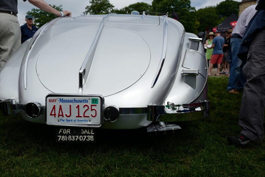 Larz Anderson German Car Day 2017 - rear view of hand built car