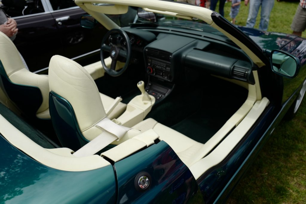 Larz Anderson German Car Day 2017 - super rare bmw z1 with slide down doors