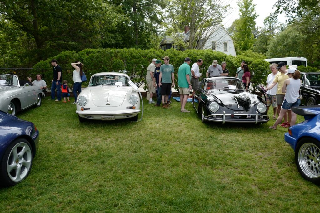 Larz Anderson German Car Day 2017 - 356s on the lawn