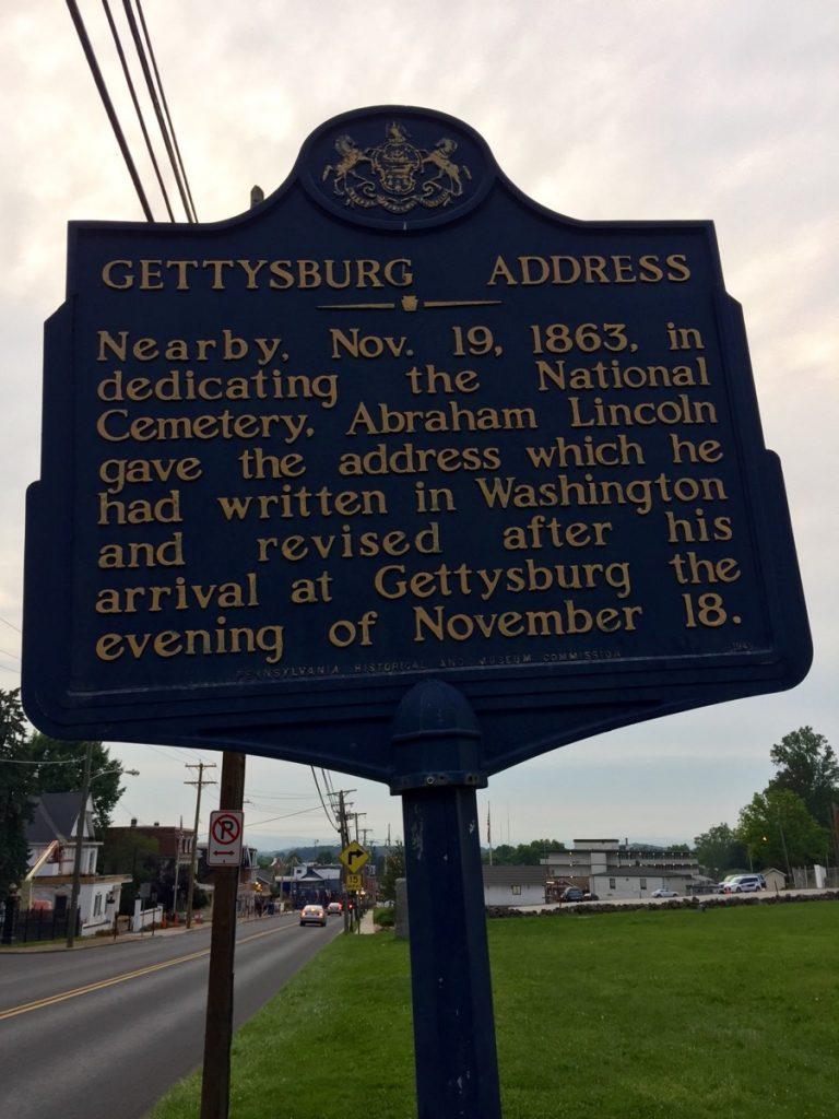 Blue Ridge Boxster Summity 2017 Gary Cooper - Gettysburg Address sign