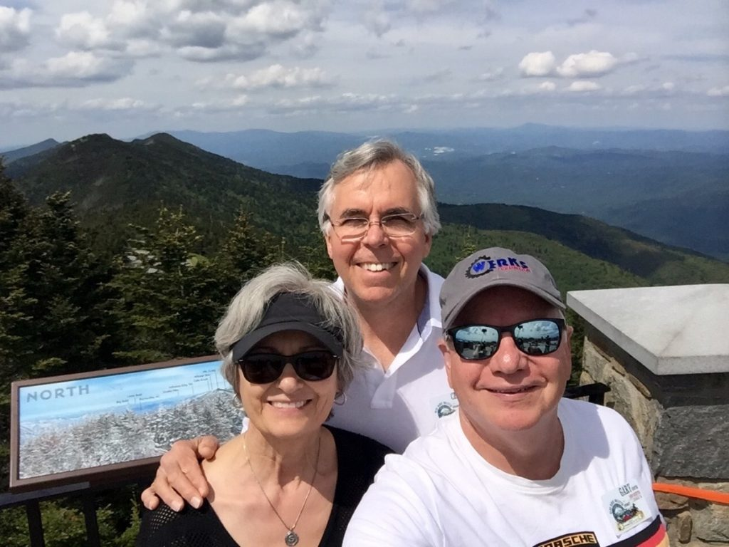 Blue Ridge Boxster Summity 2017 Gary Cooper - view from summit of Mt. Mitchell, highest point east of the Mississippi
