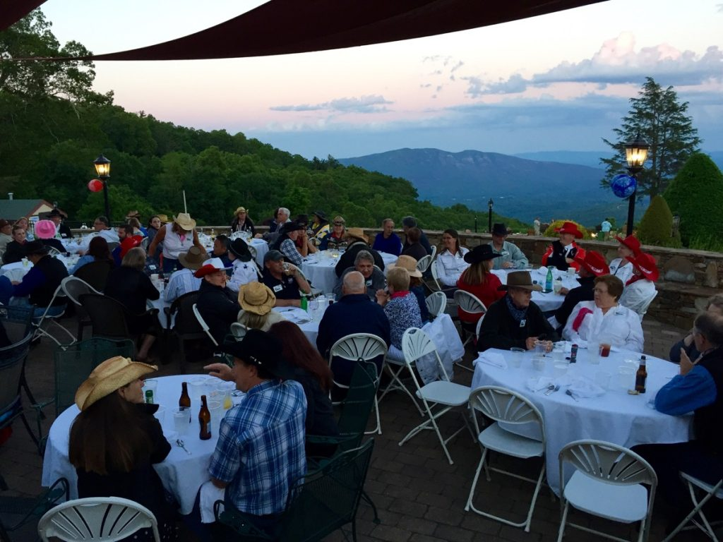Blue Ridge Boxster Summity 2017 Gary Cooper - dinner with a view