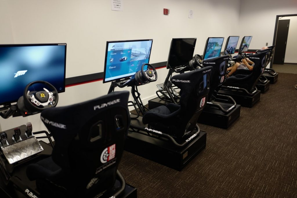 newport-car-museum-sobo-cars-coffee-pca-ner forza simulators