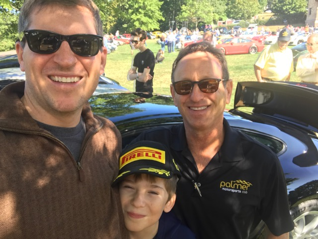 Porsche Day 2017 Larz Anderson Museum - handing with rocketman ron savenor