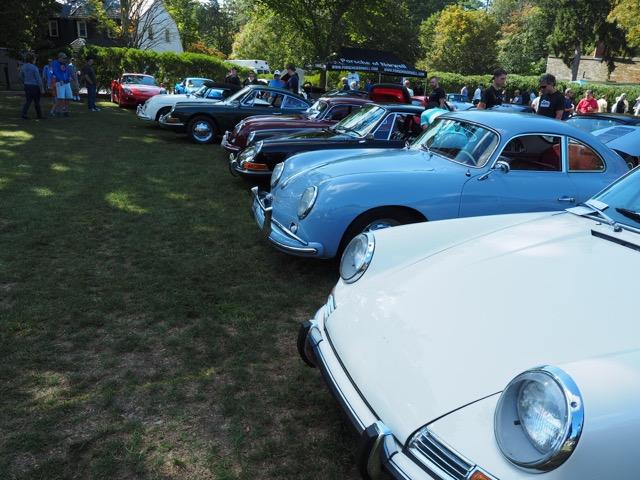 Porsche Day 2017 Larz Anderson Museum - senior row