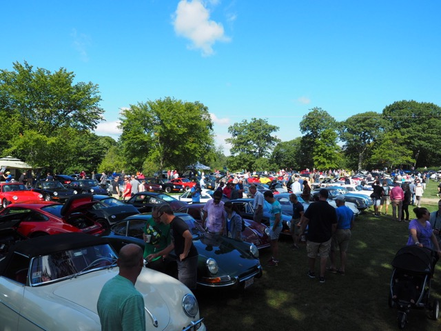Porsche Day 2017 Larz Anderson Museum - good crowd