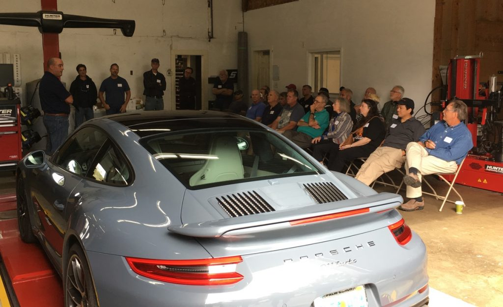 911 turbo at tech session at south shore autoworks