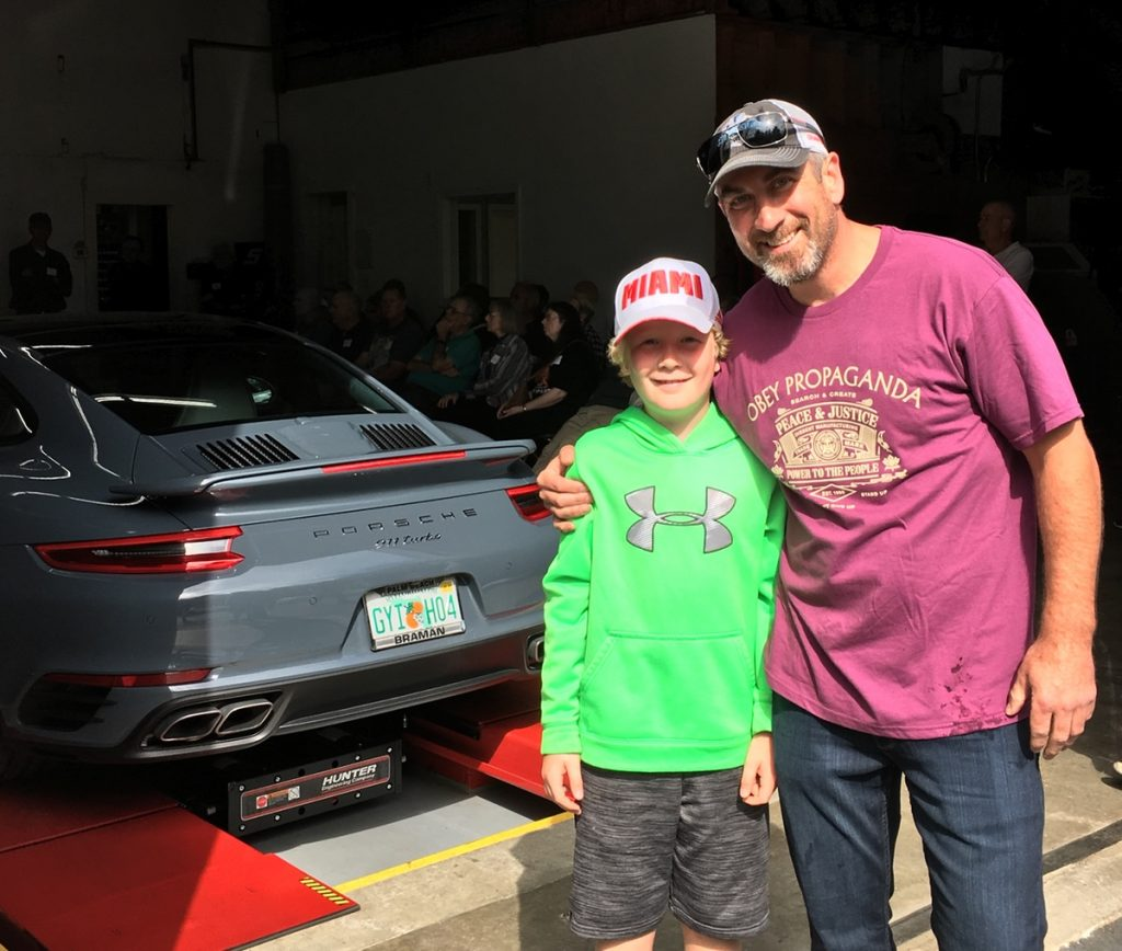 father and son at south shore autoworks tech session