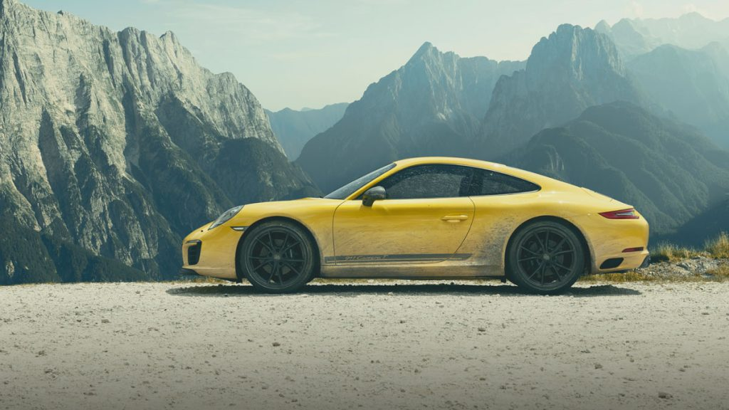dirty driver focused new Porsche 911T